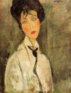 Amedeo Modigliani - Portrait of a Woman in a Black Tie 1917