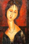 Amedeo Modigliani - Portrait of Jeanne Herbuterne 1917