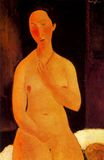 Amedeo Modigliani - Seated nude with Necklace 1917