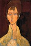 Amedeo Modigliani - Woman with White Coat 1917