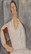 Amedeo Modigliani - Madame Hanka Zborowski Leaning on a Chair