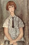Amedeo Modigliani - Young Girl in a Striped Shirt 1917