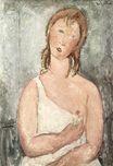 Amedeo Modigliani - Girl in the shirt. Red-haired girl 1918