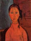 Amedeo Modigliani - Girl with Pigtails 1918