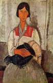 Amedeo Modigliani - Gypsy Woman with Baby 1918