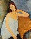 Amedeo Modigliani - Portrait of Jeanne Hebuterne 1918