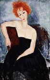 Amedeo Modigliani - Red-headed Girl in Evening Dress 1918