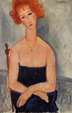 Amedeo Modigliani - Redheaded woman wearing a pendant 1918