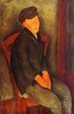 Amedeo Modigliani - Seated Boy with Cap 1918