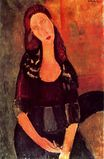 Amedeo Modigliani - Seated Jeanne Hebuterne 1918