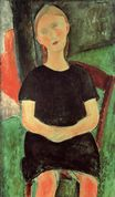 Amedeo Modigliani - Seated Young Woman 1918