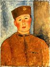 Amedeo Modigliani - The Zouave 1918
