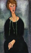 Amedeo Modigliani - Woman with a Green Necklace. Madame Menier 1918