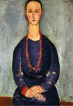 Amedeo Modigliani - Woman with a Red Necklace 1918