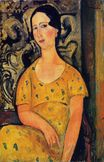 Amedeo Modigliani - Young Woman in a Yellow Dress. Madame Modot 1918