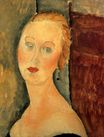 Amedeo Modigliani - Germaine Survage with Earrings 1918