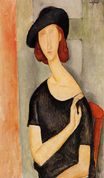 Amedeo Modigliani - Jeanne Hebuterne in a Hat 1919