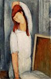 Amedeo Modigliani - Portrait of Jeanne Hebuterne with her Left Arm Behind her Head 1919