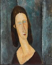 Amedeo Modigliani - Blue Eyes. Portrait of Madame Jeanne Hébuterne 1917