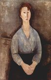 Amedeo Modigliani - Seated woman weared in blue blouse 1919