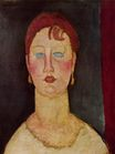 Amedeo Modigliani - The Singer from Nice 1919