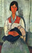 Amedeo Modigliani - Gypsy Woman with a Baby 1919