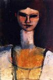Amedeo Modigliani - Bust of a Young Woman 1920