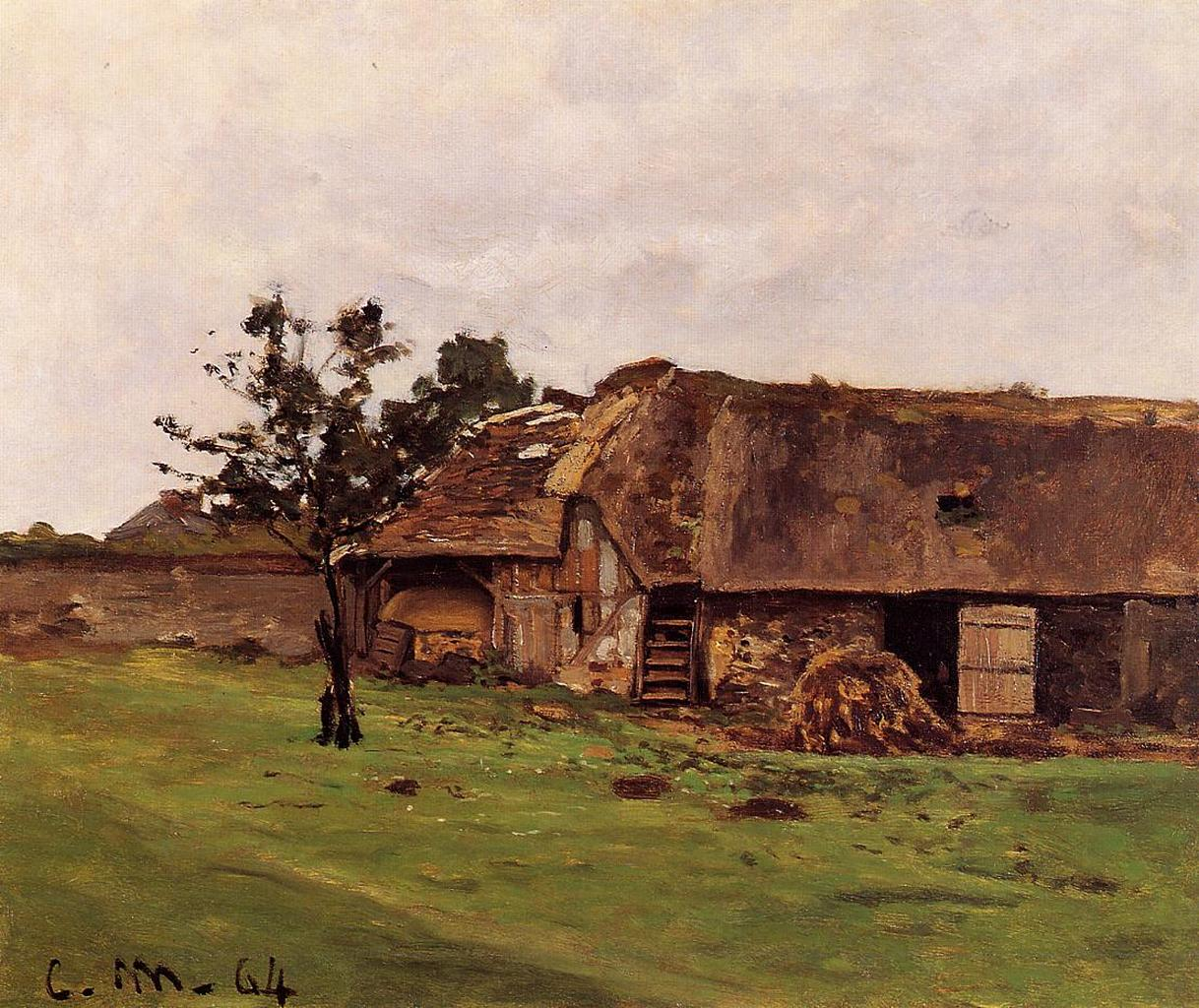 Claude Monet - Farm near Honfleur 1864
