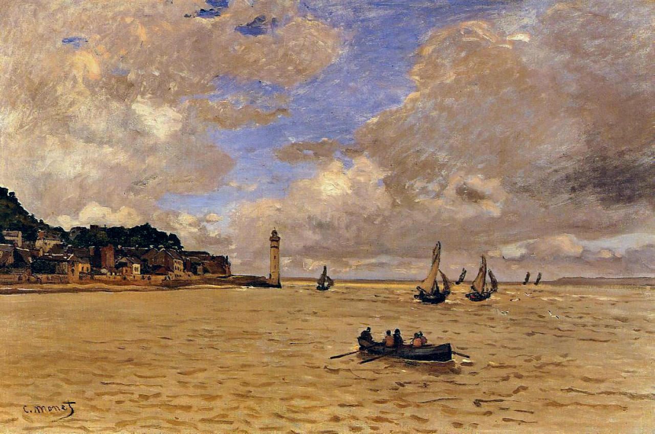 Claude Monet - Lighthouse at the Hospice 1864