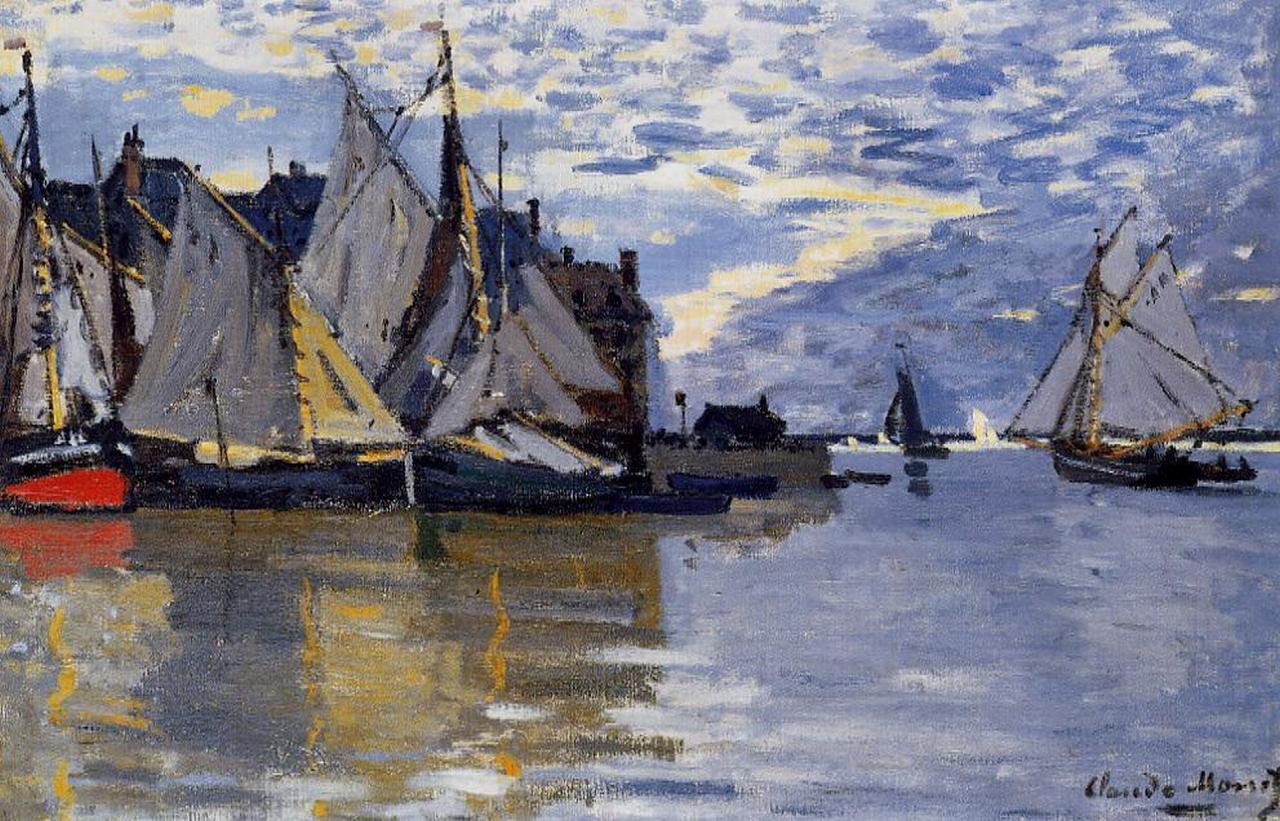 Claude Monet - Sailboats 1866