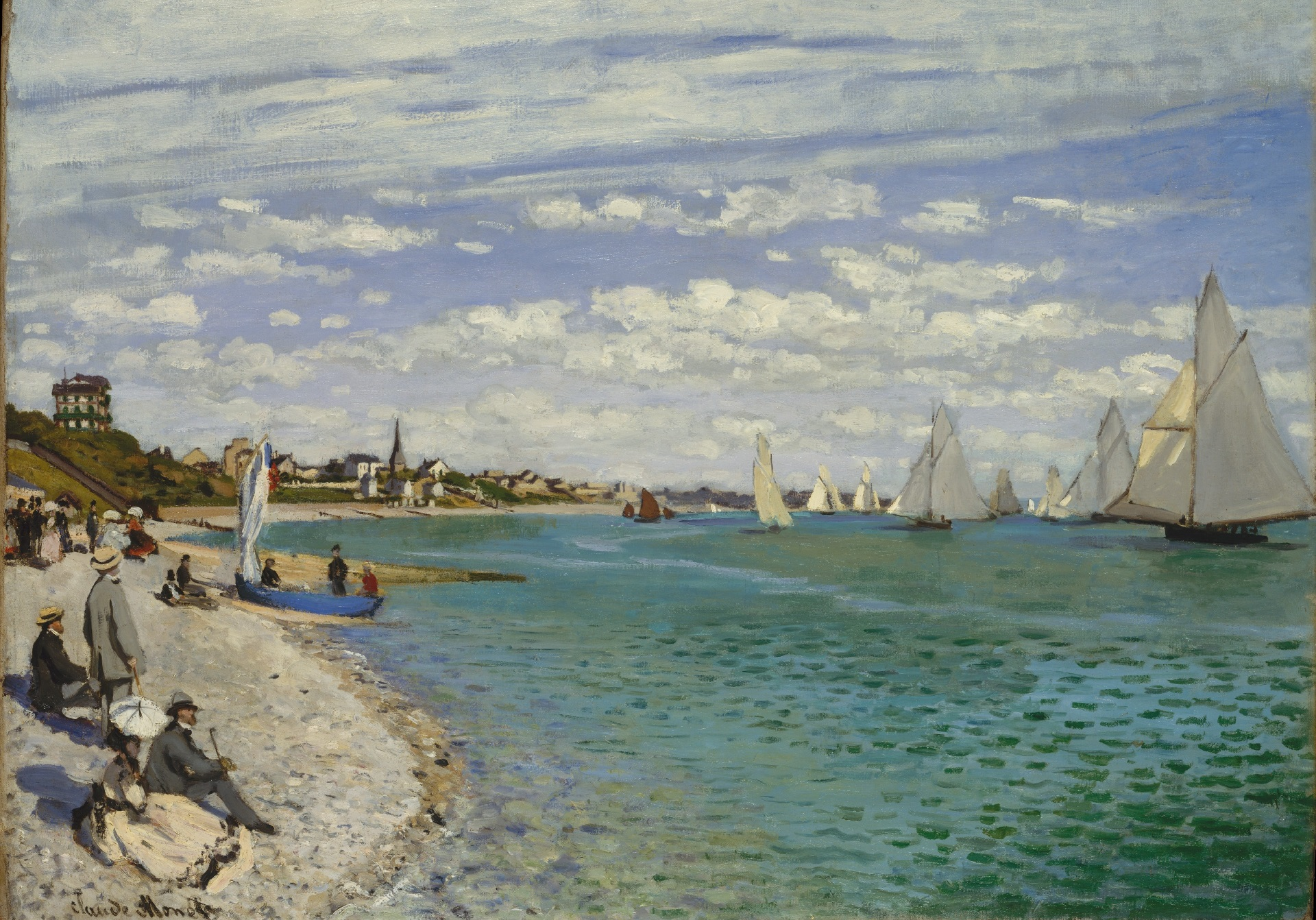 Claude Monet - Regatta at Sainte-Adresse 1867