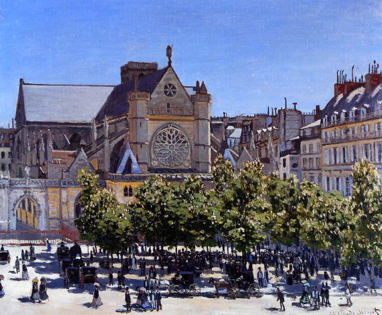 Claude Monet - Saint Germain l'Auxerrois 1867