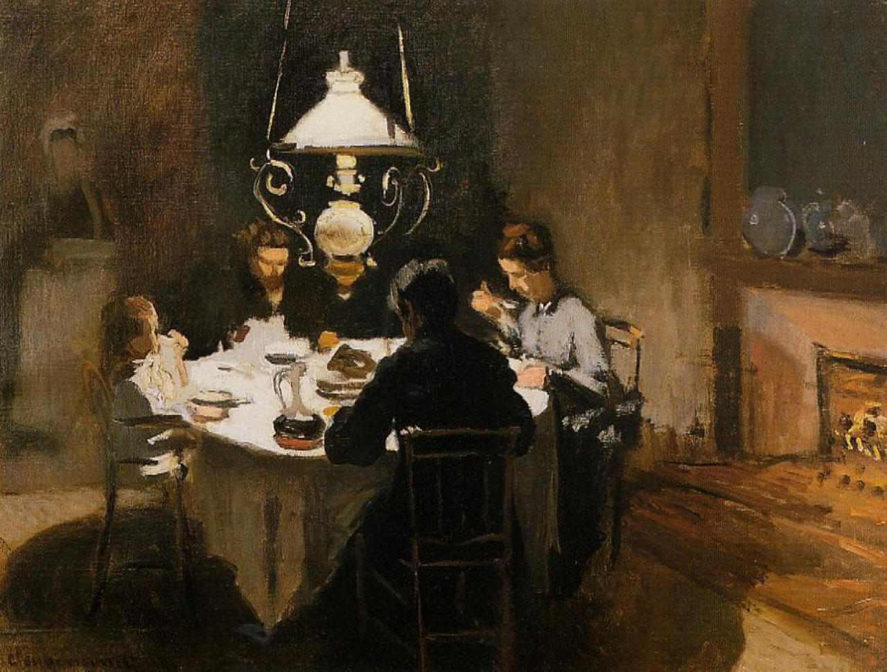 Claude Monet - The Dinner 1869