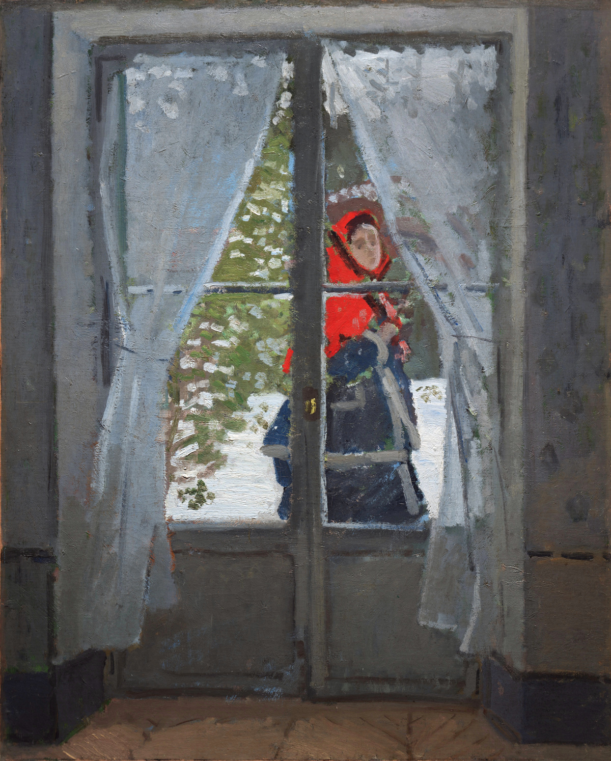 Claude Monet - Madame Monet or The Red Cape 1870