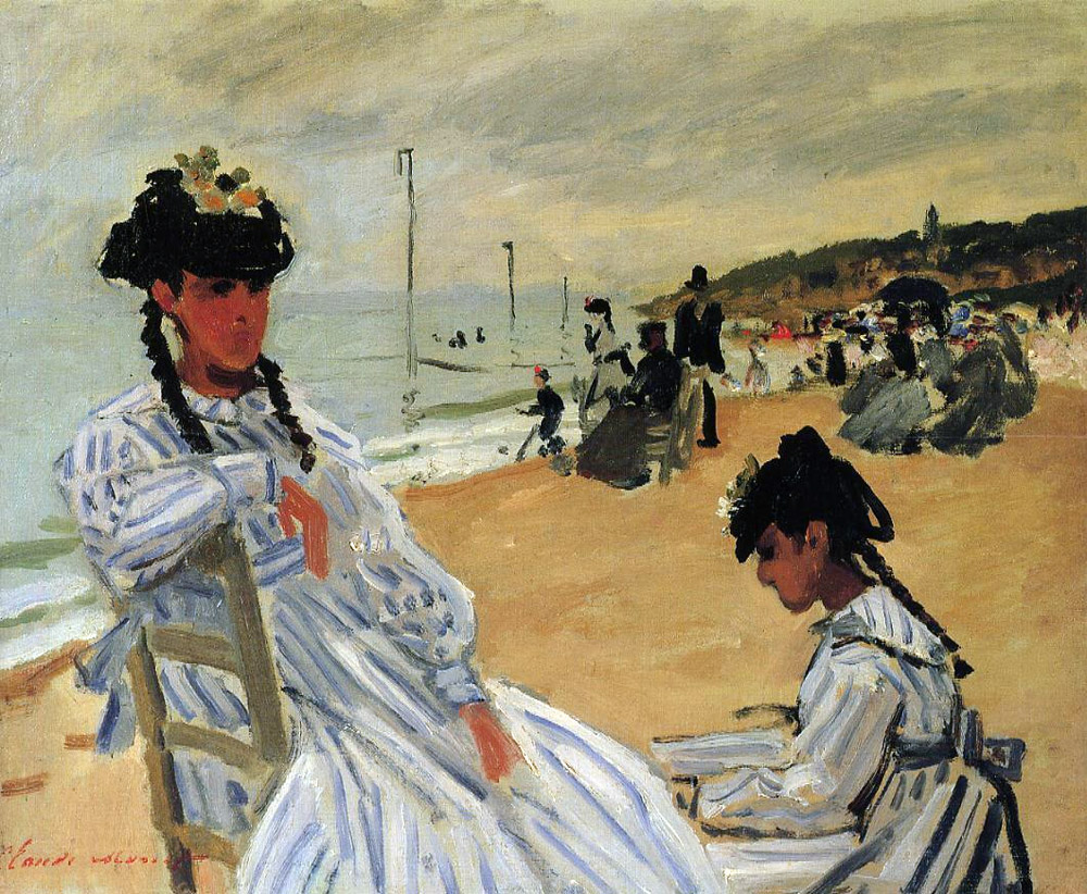 Claude Monet - On The Beach At Trouville 1871
