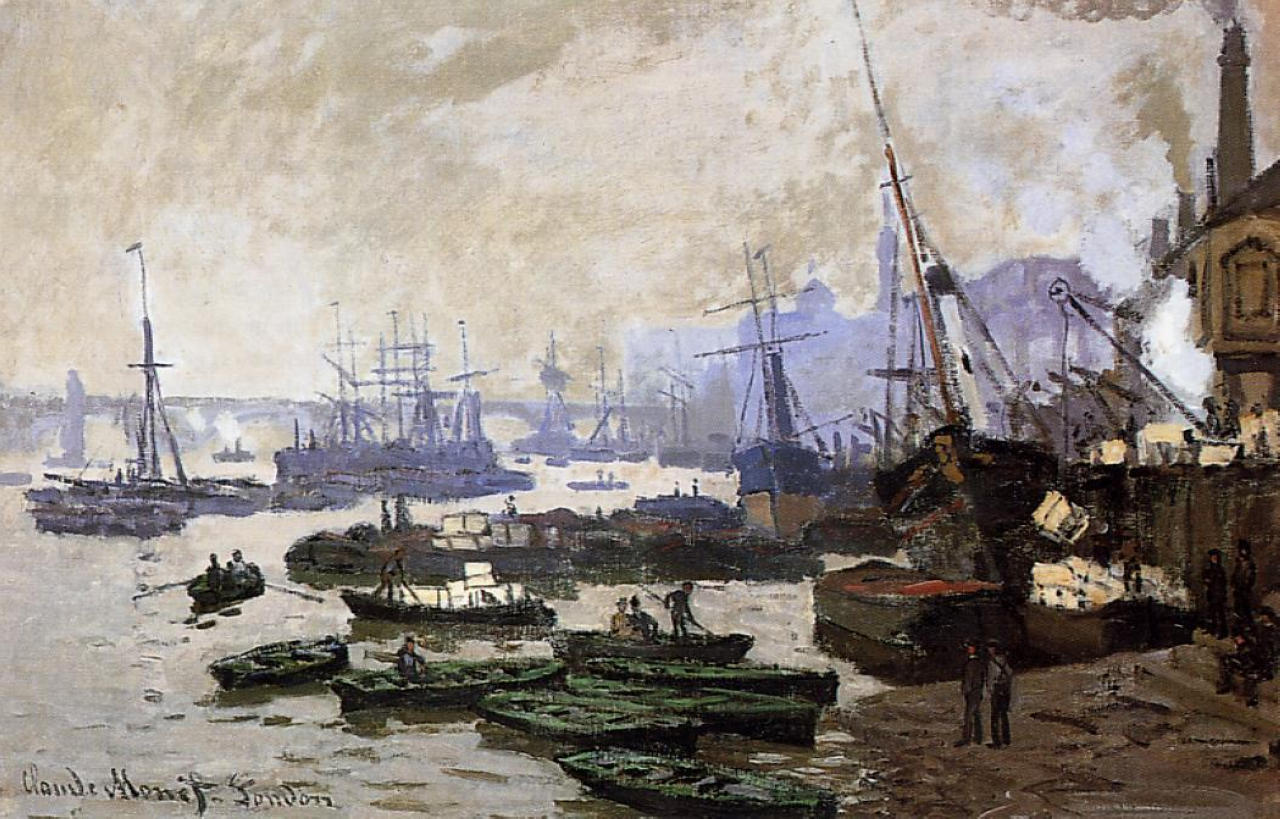 Claude Monet - Boats in the Pool of London 1871