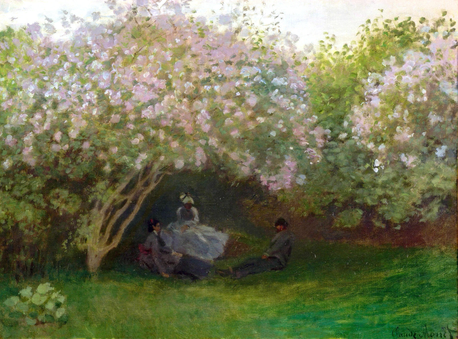 Claude Monet - Lilacs, Grey Weather 1872