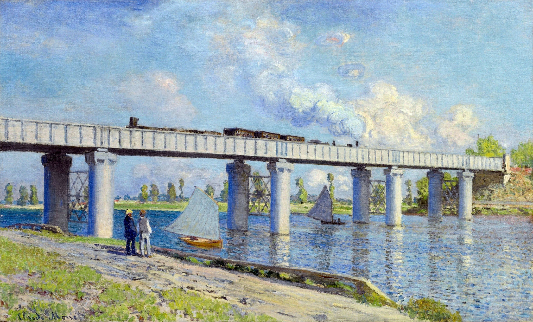 Claude Monet - Railway Bridge at Argenteuil 1873