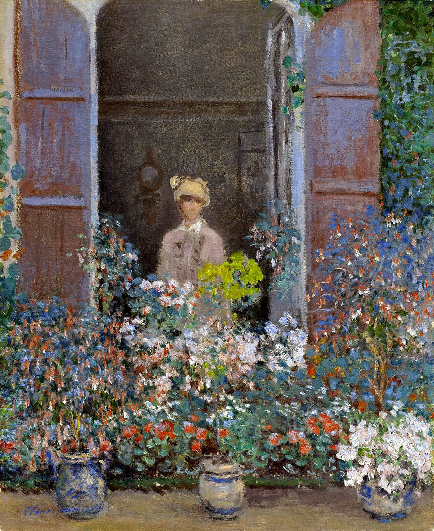 Claude Monet - Camille Monet at the Window, Argentuile 1873