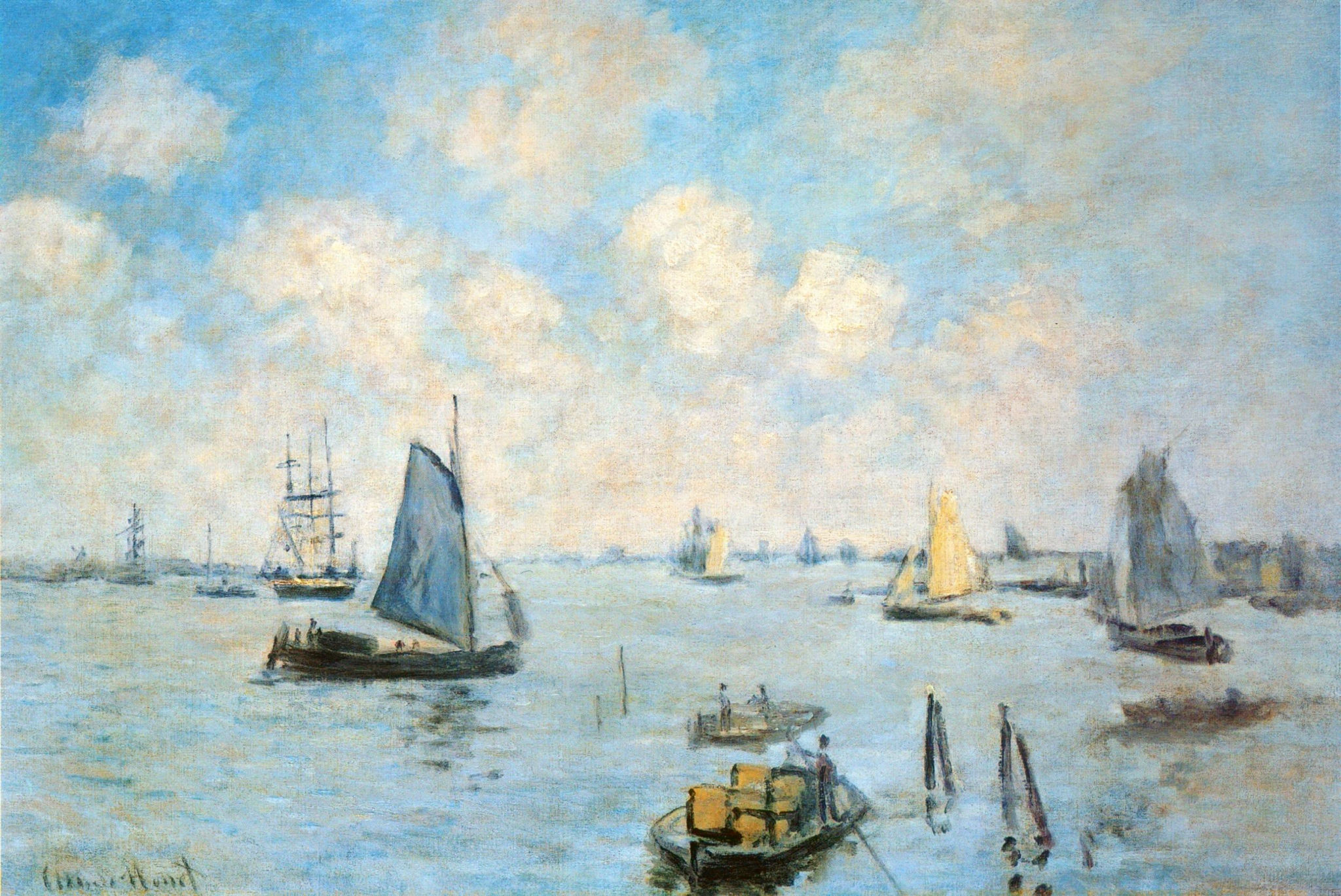 Claude Monet - The Sea at Amsterdam 1874