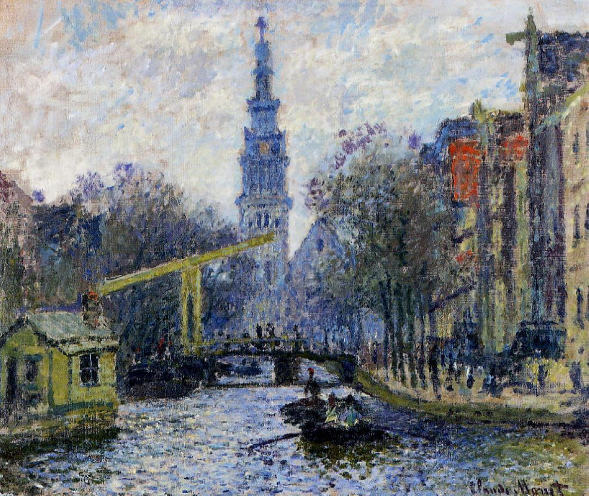 Claude Monet - Canal in Amsterdam 1874