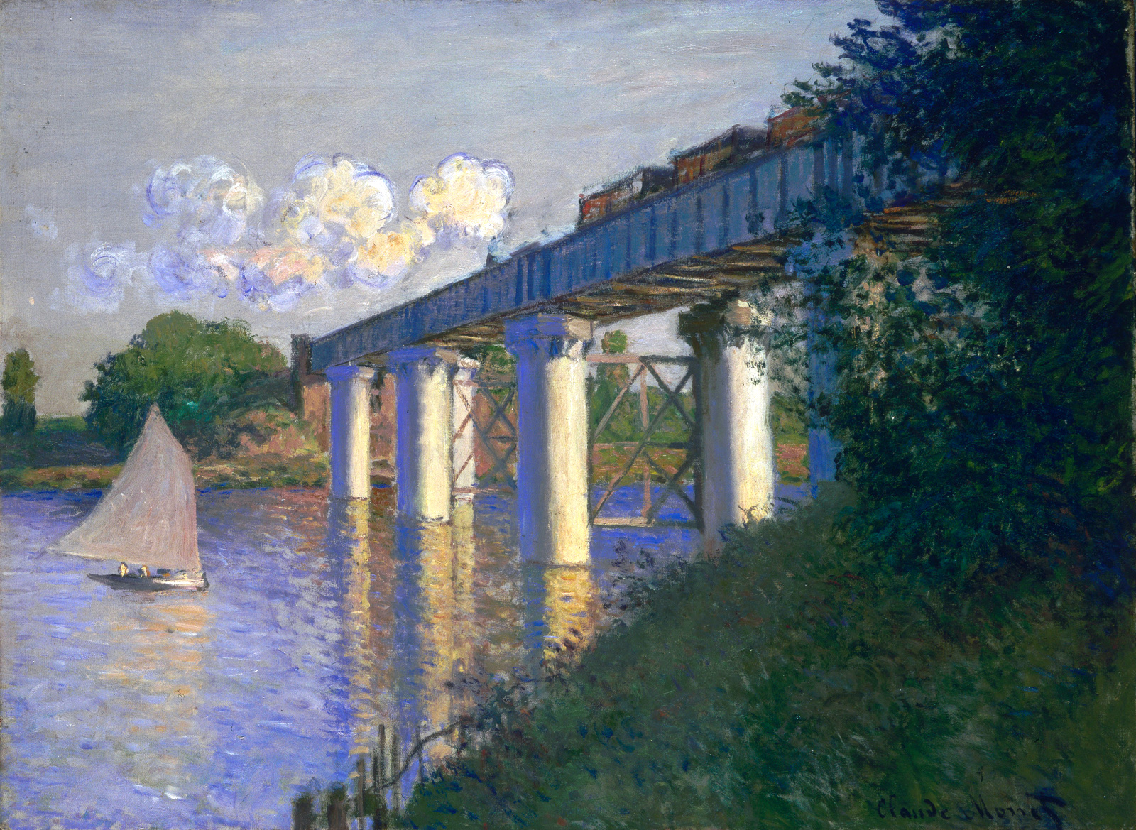 Claude Monet - Railway Bridge at Argenteuil 1874