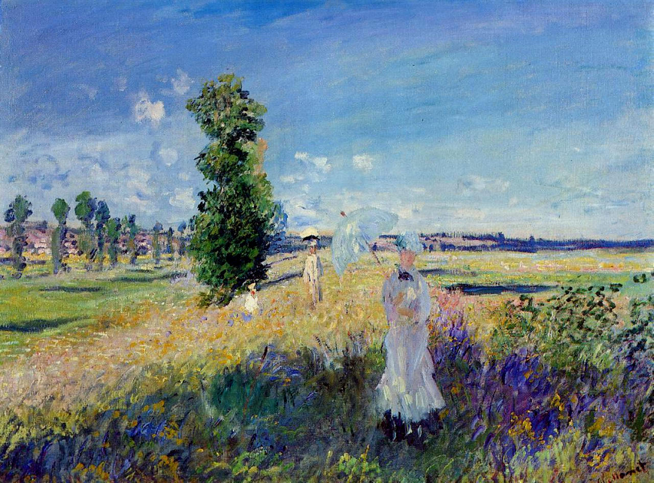 Claude Monet - The Promenade, Argenteuil 1875