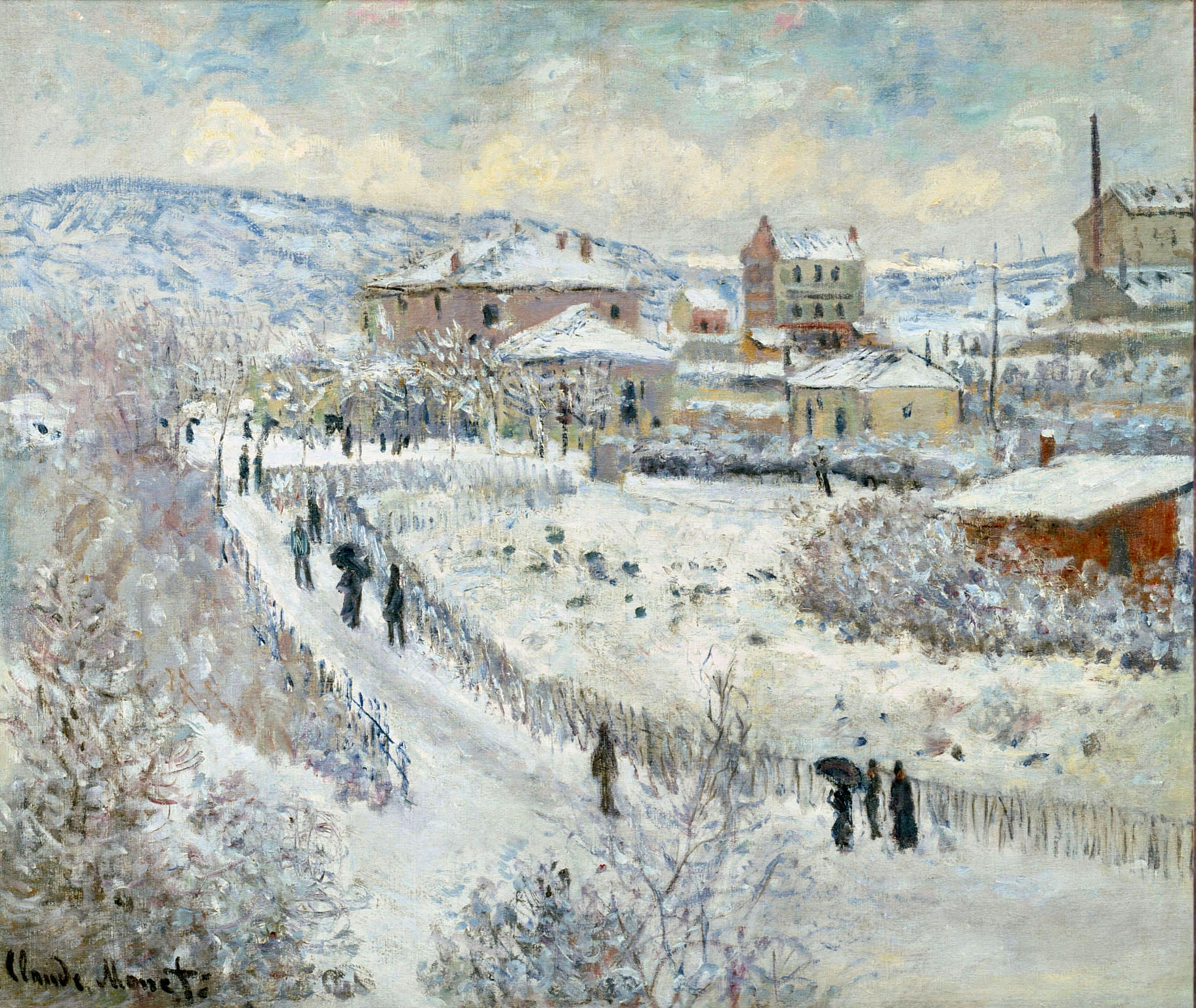 Claude Monet - View of Argenteuil in the Snow 1875