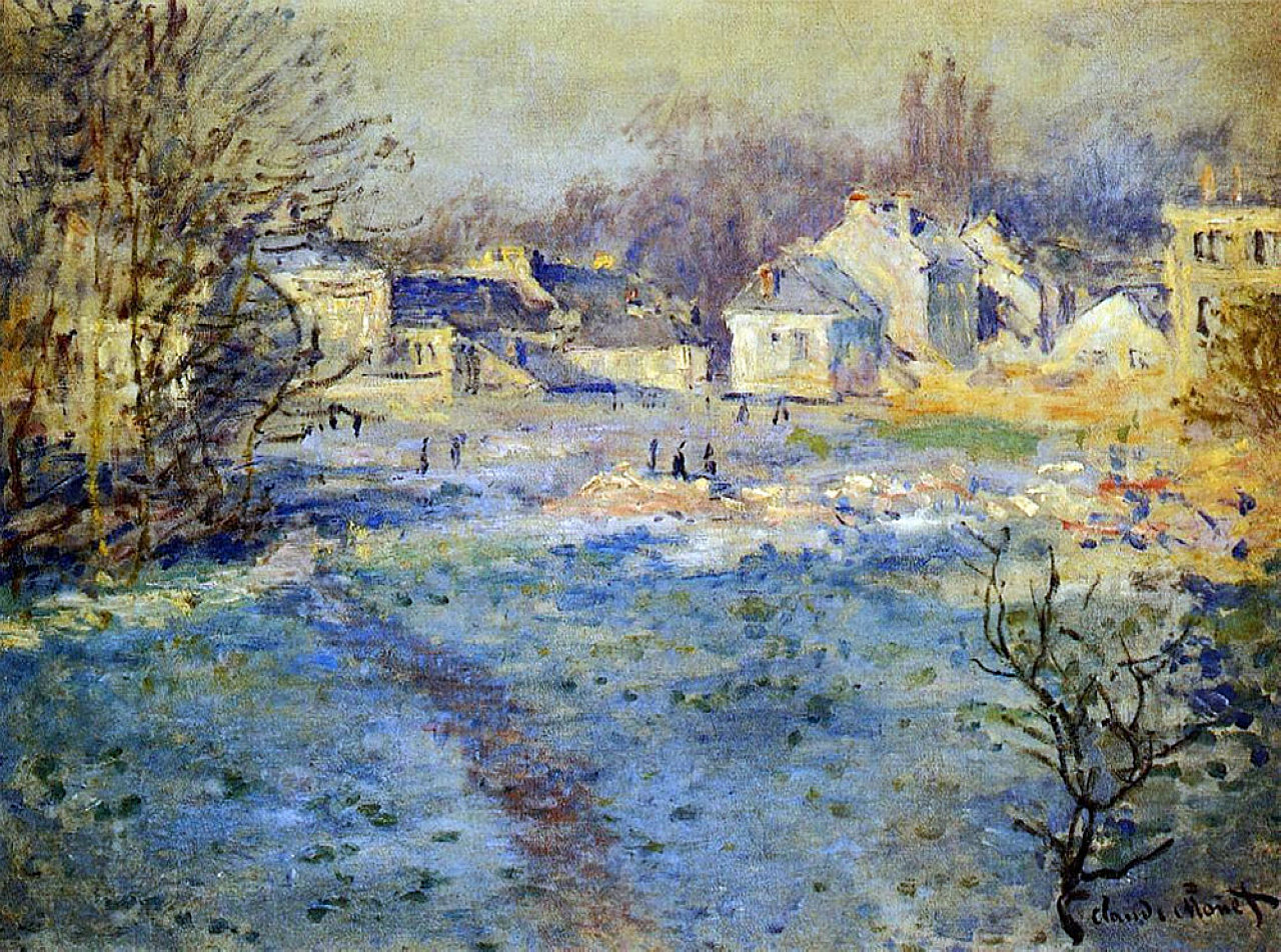 Claude Monet - White Frost 1875