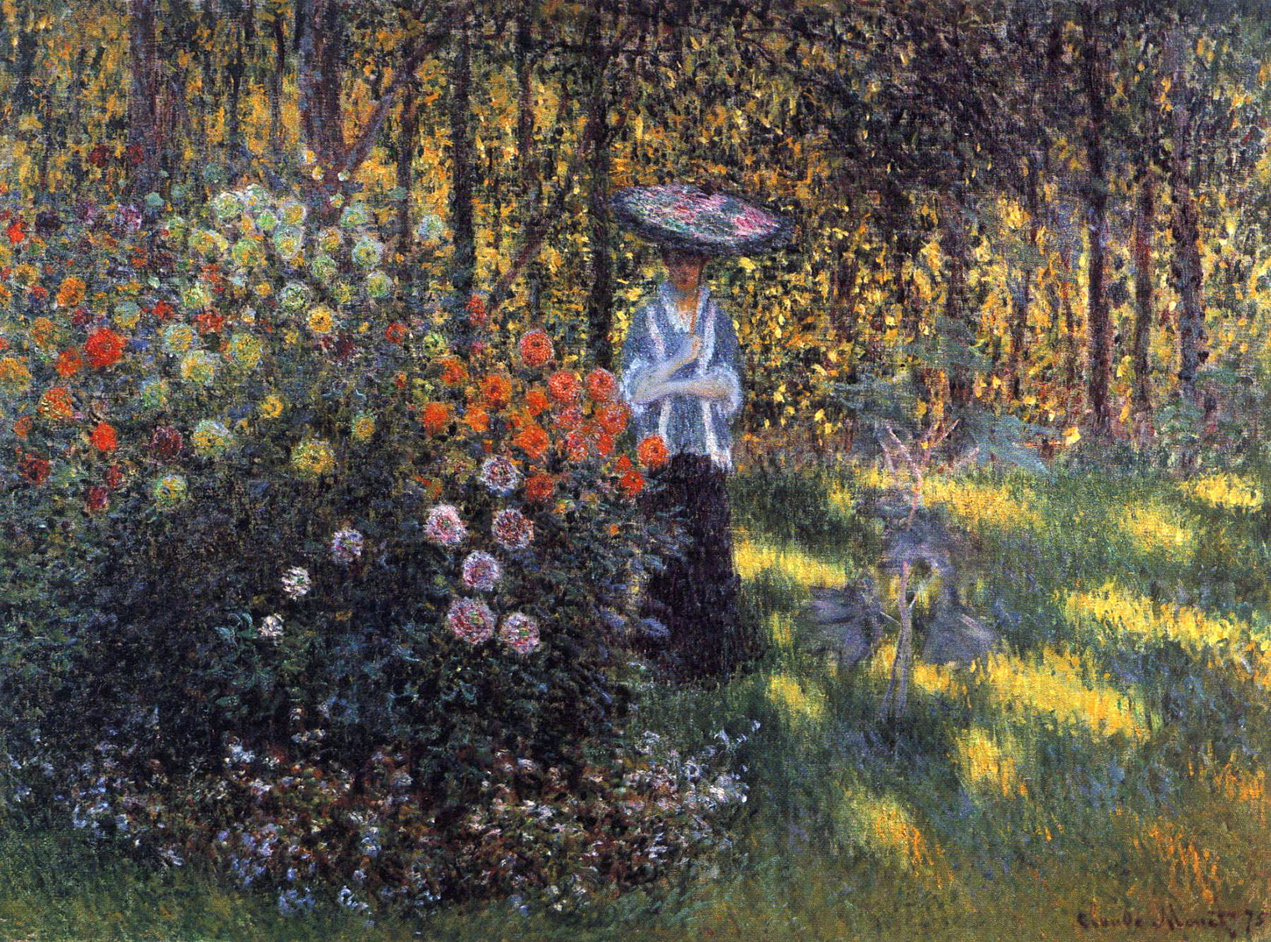 Claude Monet   Woman With A Parasol In The Garden In Argenteuil 1875