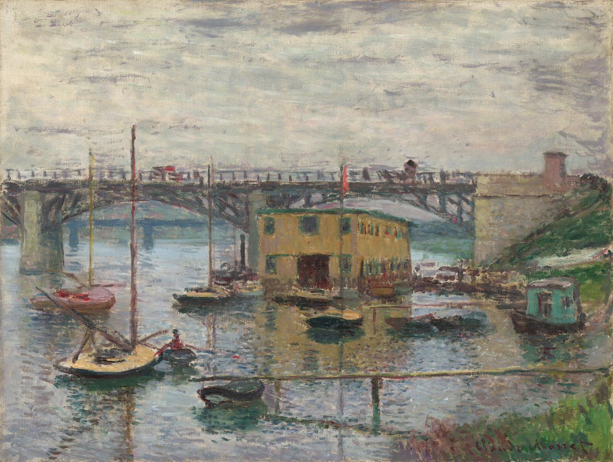 Claude Monet - Bridge at Argenteuil on a Gray Day 1876