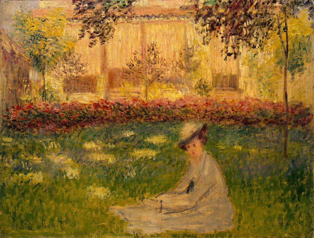 Claude Monet, picture Woman in a Garden 1876 | ArtsViewer.com