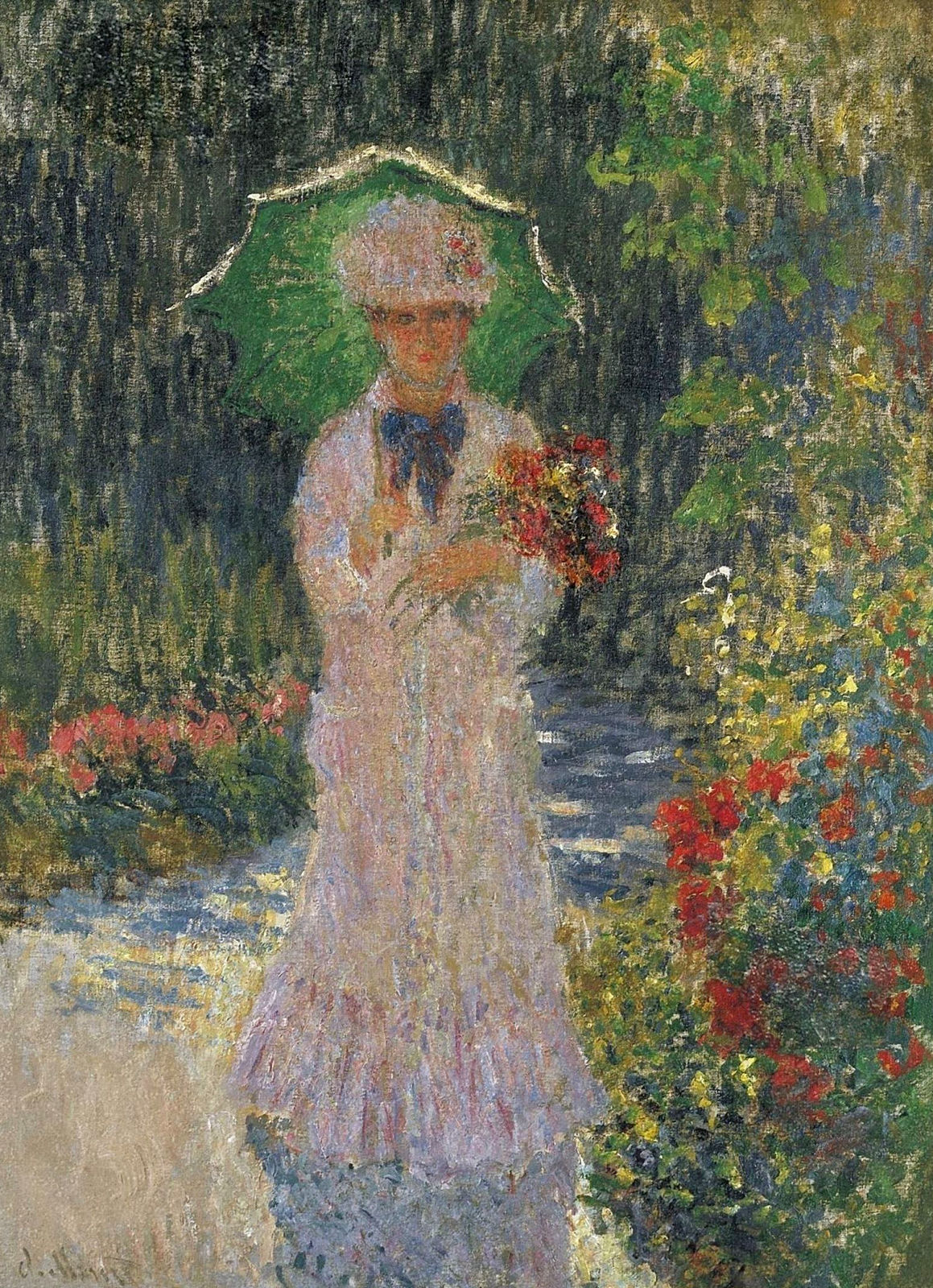 Claude Monet - Camille with Green Parasol 1876