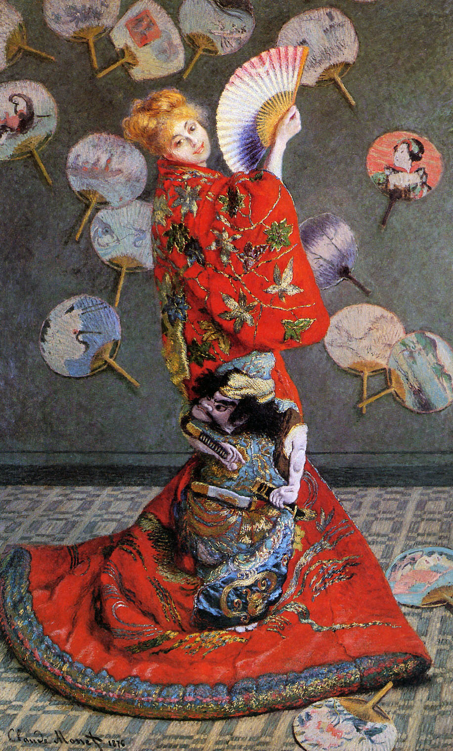 Claude Monet - Japan's or Camille Monet in Japanese Costume 1876